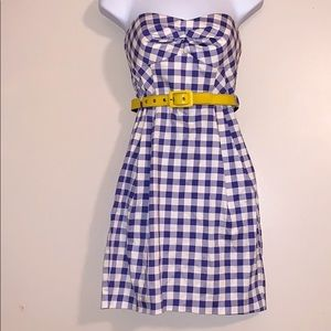Teeze Me strapless belted dress